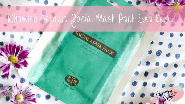 Whamisa Organic Facial Mask Pack Sea Kelp
