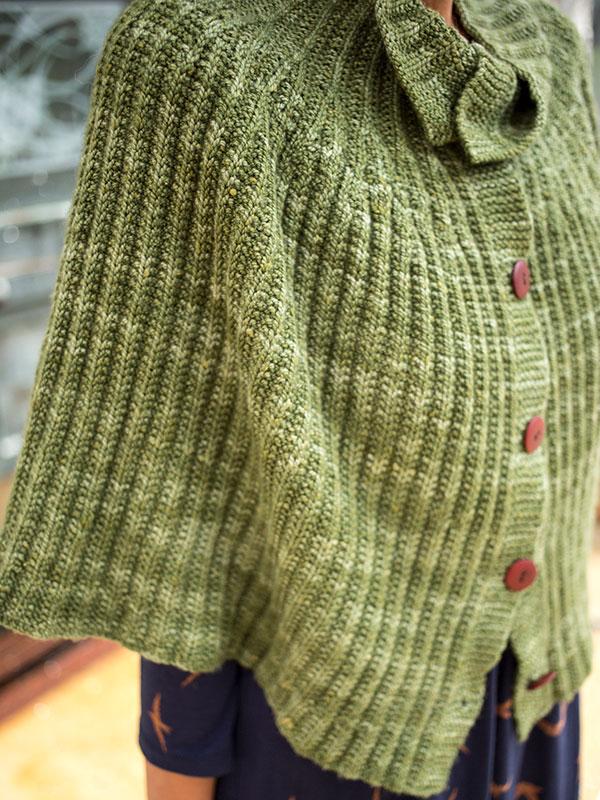 Cadi capelet knitting pattern in Berroco Artisan