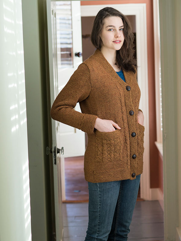 Dine cardigan knitting pattern by Michele Wang in Berroco Ultra Alpaca Chunky