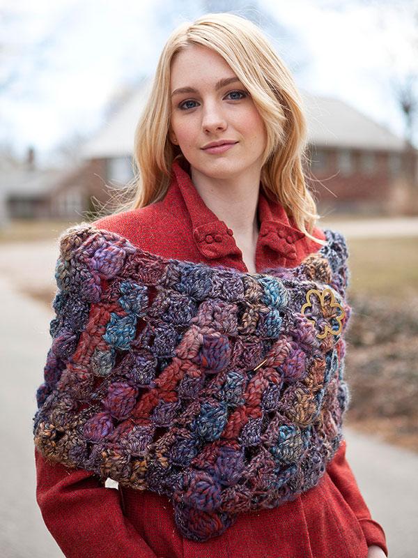 Woolsey crocheted shawl pattern in Berroco Brio