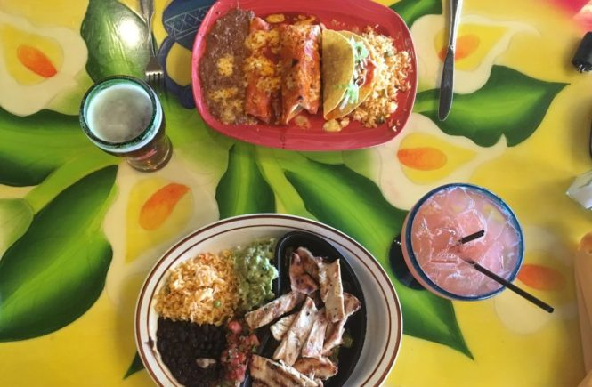 Chicken fajita, burrito, enchilada, and taco at Don Jose Sebring