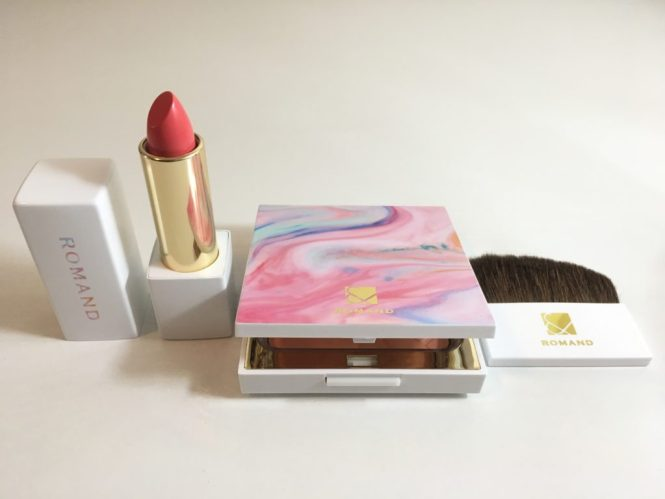 Rom& blush and lipstick