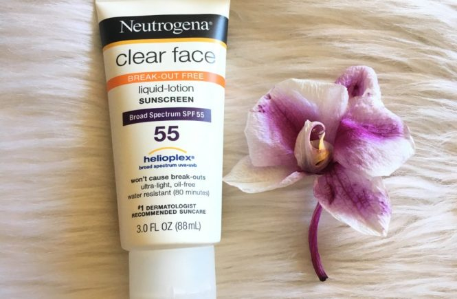 Neutrogena Clear Face sunscreen Spf 55