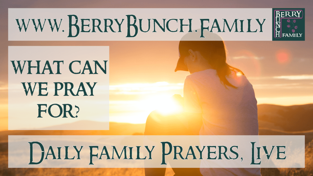 What can we pray for?