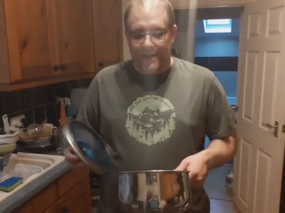 Andy B, 2 minute video, Saucepans Lids, God's Loving Discipline And Walking In His Strength