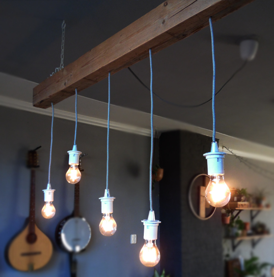 hanglamp hout balk pallet
