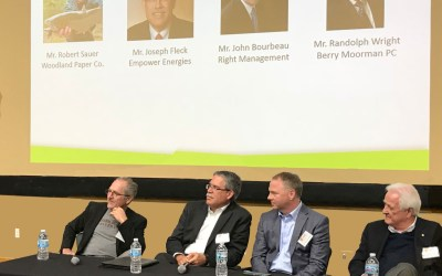 Berry Moorman Attorney participates in the Executive Forum during WMU's Hayworth College of Business CEO Day.