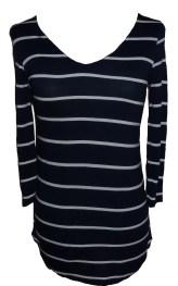 Shirt Streifen marine-weiss