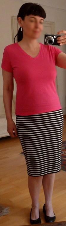 Shirt pink gekürzt