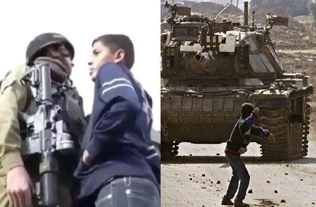 Anak Palestina vs Tentara Israel