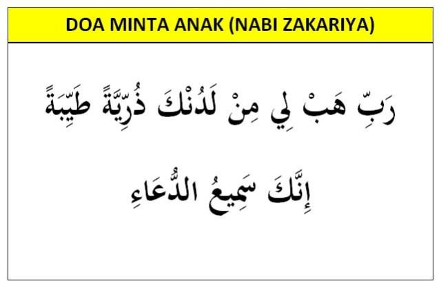 Doa minta anak Nabi Zakariya