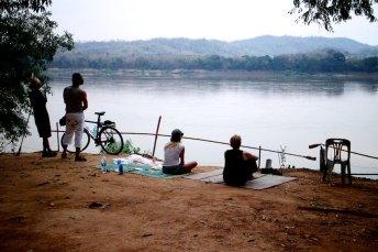 Chillen aan de Mekong
