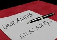 Apology Letter to Alanis Morissette