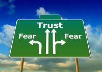 Trust & Fear Roadsign