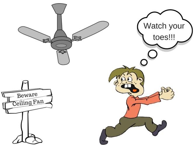Killer Ceiling Fan Cartoon