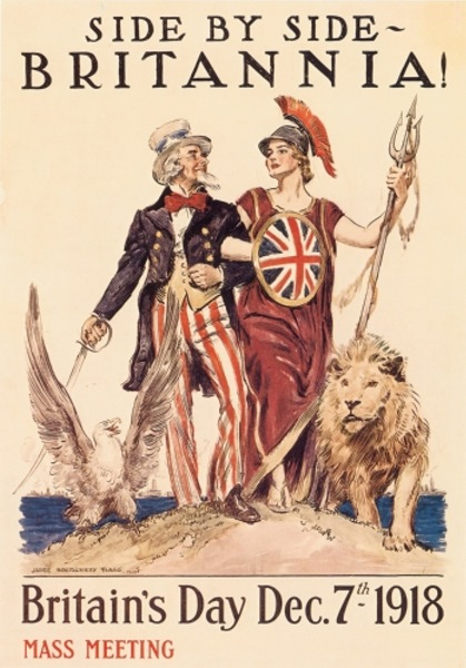 British propaganda poster, promoting the 'special relationship' among Anglo-Saxon Bloc members. Was it possible for Nehru-Gandhi dynasty to confront the Anglo-Saxon Bloc in the 1950s and 1960s. Image courtesy - http://bertc.com. Click for a larger image.
