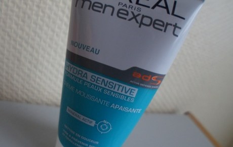 Test de la crème moussante apaisante Hydra Sensitive L'Oréal Men Expert