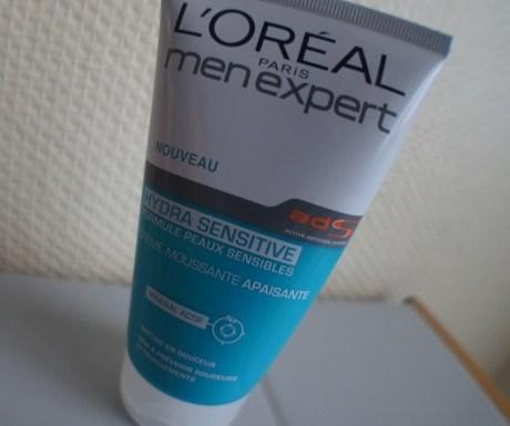 Test de la crème moussante apaisante Hydra Sensitive L'Oréal Men Expert