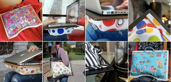 Idée cadeau de Noël : LapTopper, le coussin d'ordinateur trendy