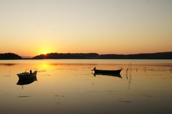 Gruissan coucher soleil