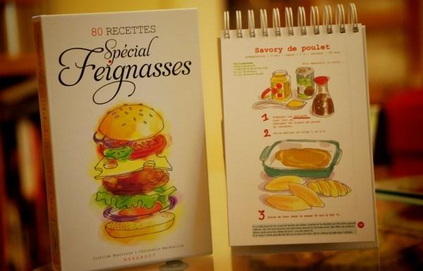 Carnet de 80 recettes Spécial Feignasses