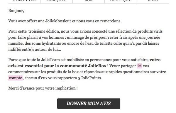 Message pour la JolieTeam : les hommes aussi peuvent acheter la JolieMonsieur