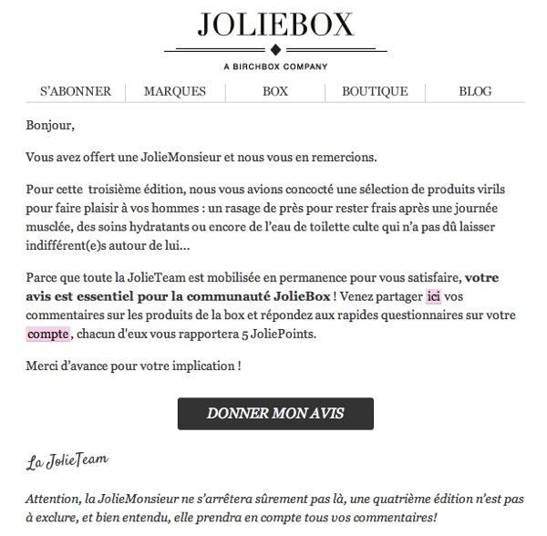 Mail JolieMonsieur