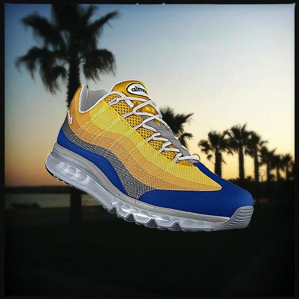 Nike PHOTOiD aux couleurs couché de soleil et palmiers
