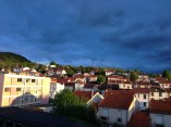 Les couleurs magnifiques du ciel à 7h du matin au moment de prendre la route