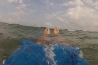 Mardi 6 août : vive la mer ! L'eau était à 28° C en plus !