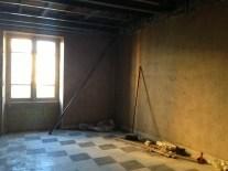 Jeudi 5 septembre : notre futur salon et sa luminosité du soir