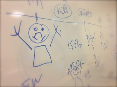 Jeudi 10 octobre : oeuvre personnelle lors d'un de mes cours à la fac