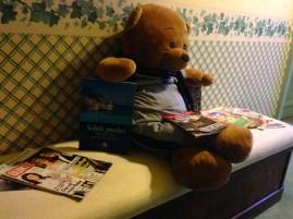 Mercredi 22 janvier : amusant ce gros ours en peluche dans les couloirs de l'hôtel