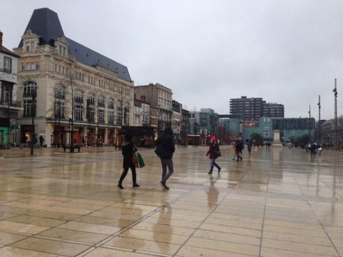 vendredi 24 janvier : petite photo de Clermont sous la pluie