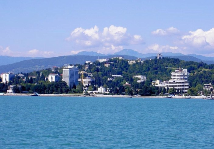View on Sotsji from black sea