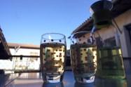 Dimanche 9 mars : premier thé glacé sur notre terrasse ! Quel pied