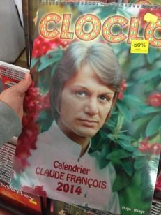 Vendredi 14 mars : un calendrier 2014 Claude François !?