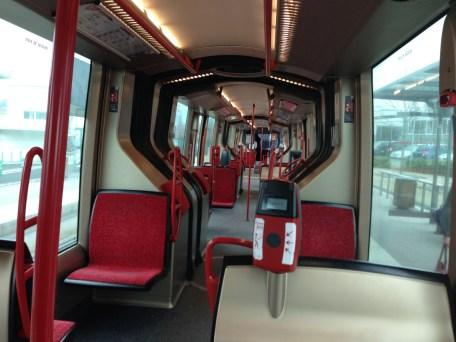 Vendredi 21 mars : dans le tram... vide