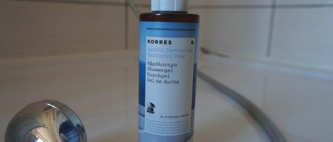 Gel douche Santorin de Korres : un petit air de vacances