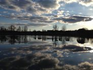 Dimanche 22 février 2015 : balade au plan d'eau de Cournon et magnifiques reflets