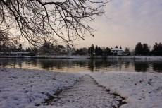 Mercredi 4 février 2015 : neige sur les bords de l'Allier à Vichy