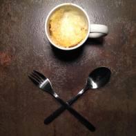Mardi 10 février 2015 : mugcake salé au menu
