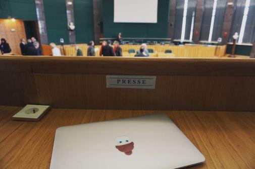 Lundi 23 février : en zone presse au conseil général