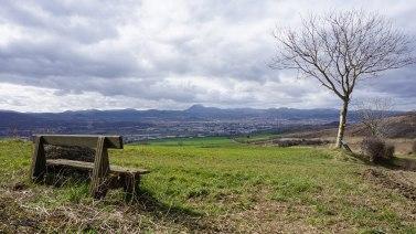 Mercredi 4 mars : un banc avec une jolie vue (photo pris mardi)