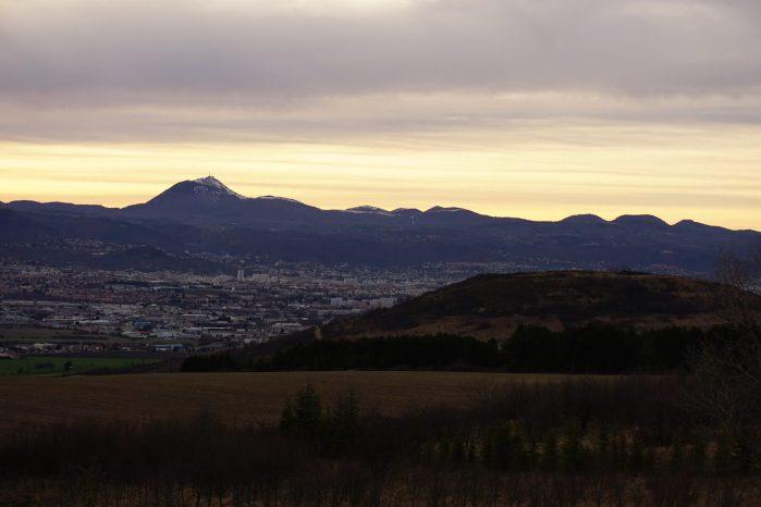 Dimanche 8 mars : fin de journée avec vue sur la Chaîne des Puys