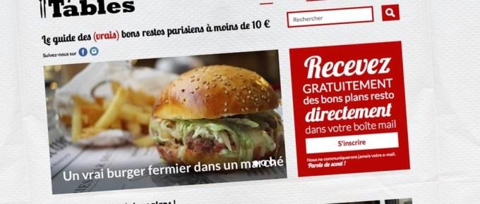 Les Petites Tables pour manger pas cher à Paris
