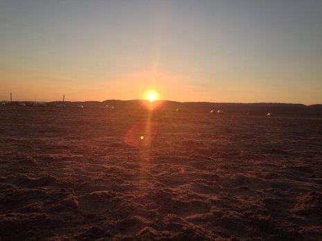 Couché de soleil à la plage