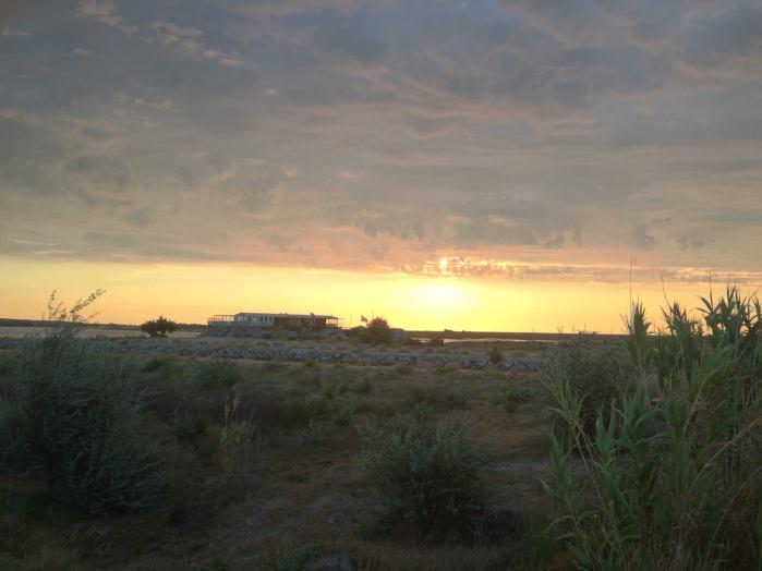 La base nautique tôt le matin
