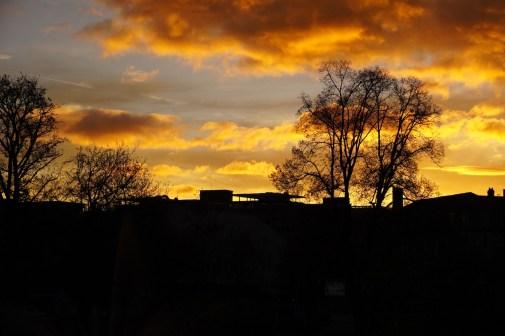 Ciel rouge du matin