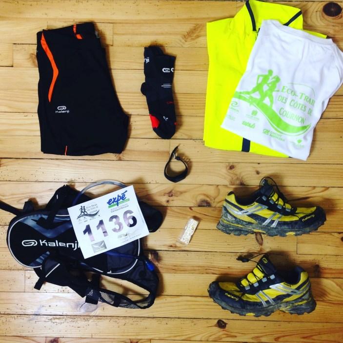 Mon équipement avant le trail